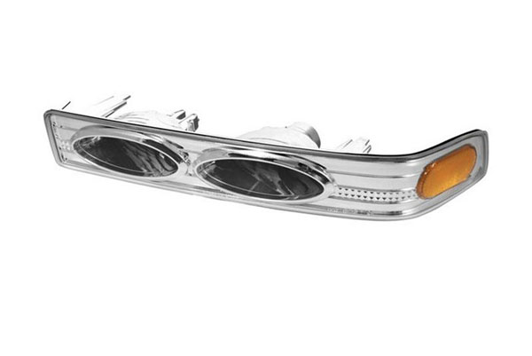 xTune CBL-CS1098-YD-E-AM |  Chevrolet S10 / Blazer Amber Bumper Lights - Euro; 1998-2000