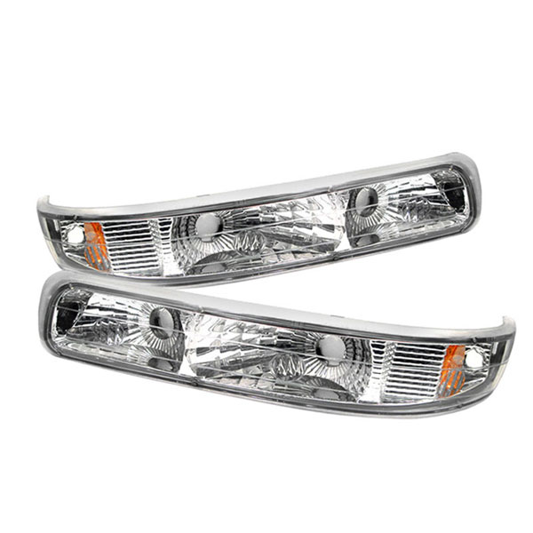 xTune CBL-CS99-E-AM |  Chevrolet Silverado Amber Bumper Lights - Euro; 1999-2002
