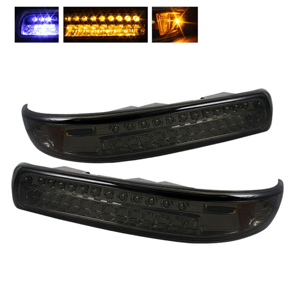 xTune CBL-CS99-LED-SM |  Chevrolet Silverado LED Amber Bumper Lights - Smoke; 1999-2002