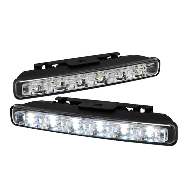 xTune CBL-DRL-6WONOFF-C |  LED DRL Day Time Running Lights Auto On/Off 6pcs 1W - Chrome; 2000-2013
