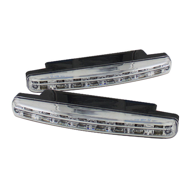 xTune CBL-DRL-8LED-C:  Universal DRL 8 White LED Lights - Chrome