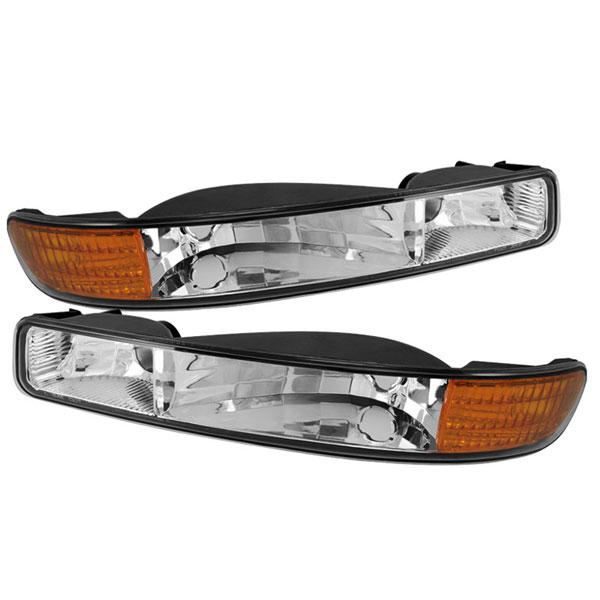 xTune CBL-GS99-AM-E |  GMC Sierra Yukon (dont fit Denali) Bumper Lights Amber - Chrome; 2000-2006
