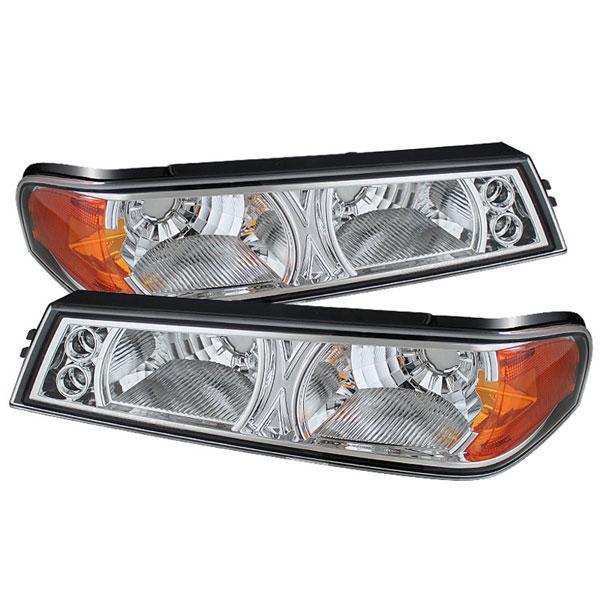 xTune CBL-YD-CCO04-C |  Chevrolet Colorado / GMC Canyon Bumper Lights - Chrome; 2004-2012
