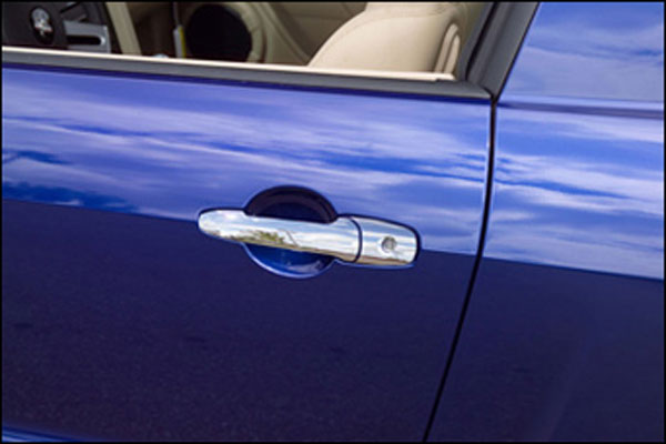LMPerformance CCIDH68125B:  Chrome Door Handle Overlays for 2005-09 Mustang (pair) V8