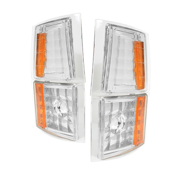 xTune CCL-CCK88-E-AM:  Chevrolet C/K Pickup 94-98 4PCS Amber Corner Lights - Euro