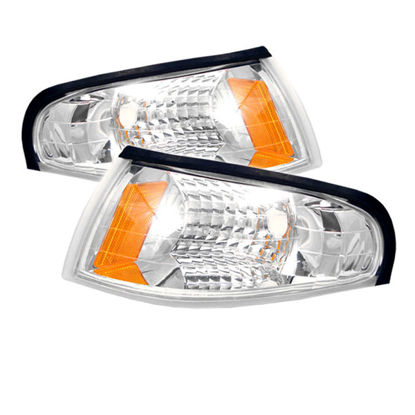 xTune CCL-FM94-E-AM:  Ford Mustang 94-98 Amber Corner Lights - Euro