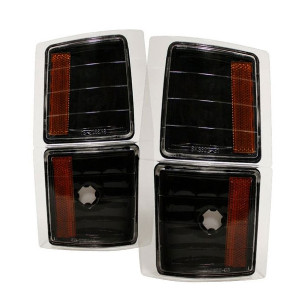 xTune CCL-GCK88-BK-AM |  GMC C/K Amber Corner Lights 4 PCS - Black; 1994-1998
