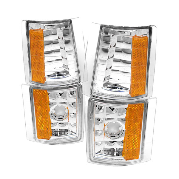 xTune CCL-GCK88-E-AM |  GMC C/K 94-98 4PCS Amber Corner Lights - Euro