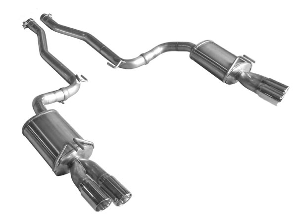 American Racing Headers CHSS-14300AXBK:  Chevy SS 2014-UP 3in DOUBLE WALLED SS DUAL TIPS