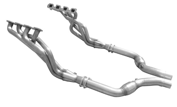 American Racing Headers CHYA-05134300LSWC:  Magnum 2005-2008 ALL WHEEL DRIVE (5.7 SQUARE PORT FLANGE) LONG SYSTEM WITH CATS, 1-3/4in x 3in Header, 3in Connection Pipes With Cats