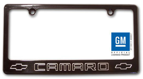Empire CM320CB:  Camaro 2010-11 - 2011 License Plate frame with Camaro Lettering - Black