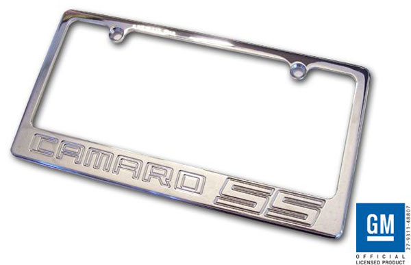 Empire CM320SSP |  Camaro 2010-11 - 2011 License Plate frame with SS Logo - Polished