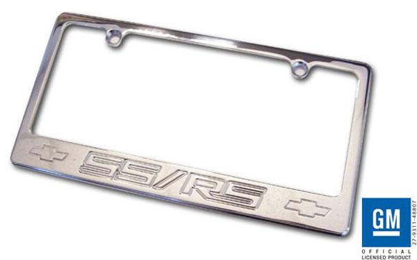 Empire CM320SSRSP |  Camaro 2010-11 - 2011 License Plate frame with SS/RS Logo - Polished
