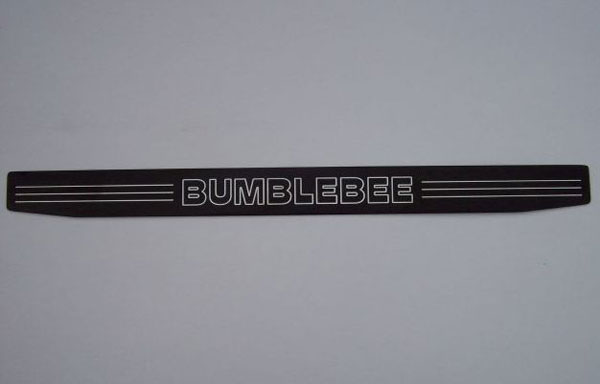 Empire CM357BBB:  Camaro 2010-11 - 2011 Door Sill Plates with Bumblebee Lettering (pair) - Black