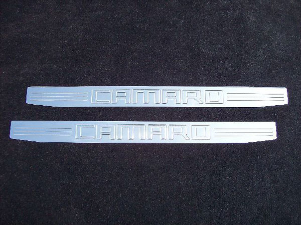 Empire CM357CP:  Camaro 2010-11 - 2011 Door Sill Plates with Camaro Lettering (pair) - Polished