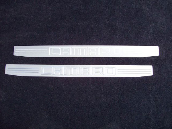 Empire CM357CS:  Camaro 2010-11 - 2011 Door Sill Plates with Camaro Lettering (pair) - Satin