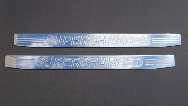 Empire CM357SCP:  Camaro 2010-11 - 2011 Door Sill Plates with Supercharged Lettering (pair) - Polished
