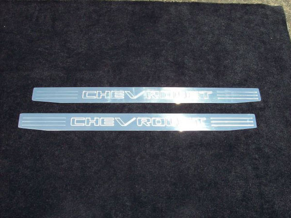 Empire CM357VP:  Camaro 2010-11 - 2011 Door Sill Plates with Lettering (pair) - Polished
