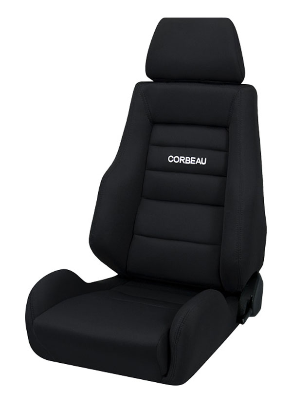 Corbeau 20301:  GTS II Reclining Seat in Black Cloth (Sold in Pairs, Price is for 2 Seats)