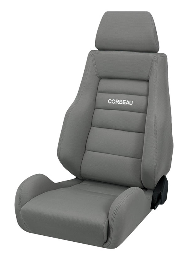 Corbeau 20309 | GTS II Reclining Seat in Grey Cloth (Sold in Pairs, Price is for 2 Seats); 1950-2017