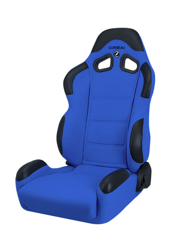 Corbeau 20905:  CR1 Reclining Seat in Blue Cloth (Sold in Pairs, Price is for 2 Seats)