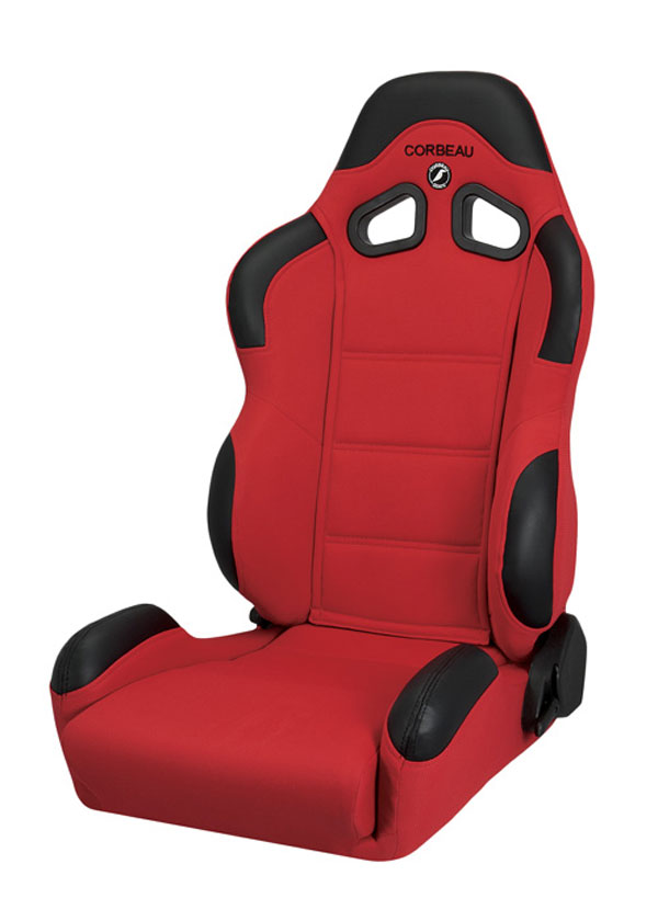 Corbeau 20907:  CR1 Reclining Seat in Red Cloth (Sold in Pairs, Price is for 2 Seats)