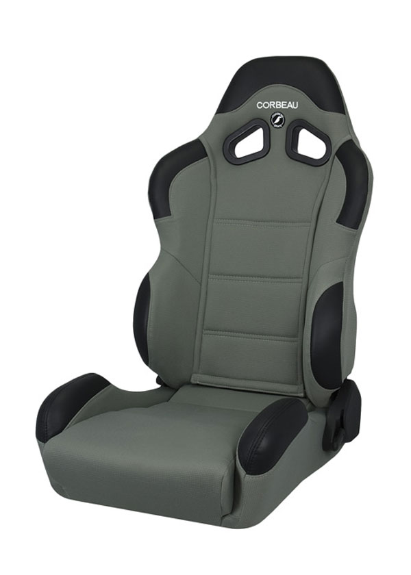 Corbeau 20909:  CR1 Reclining Seat in Grey Cloth (Sold in Pairs, Price is for 2 Seats)