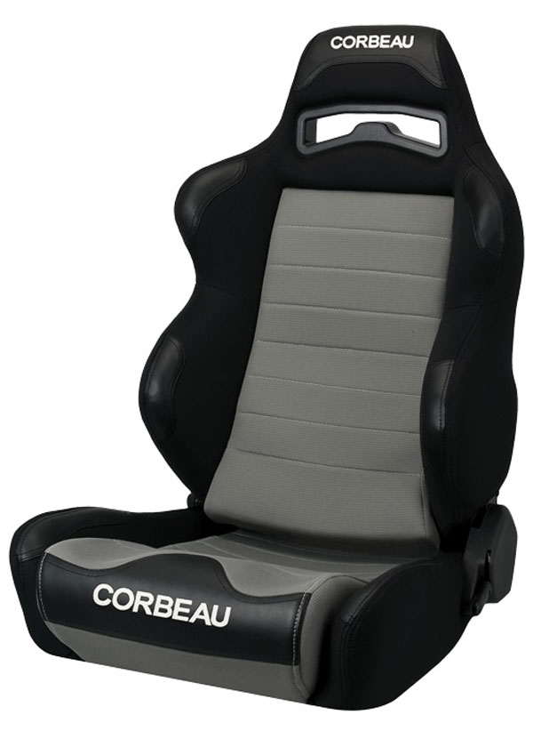 Corbeau 25509:  LG1 Reclining Seat in Black/Grey Cloth (Sold in Pairs, Price is for 2 Seats)