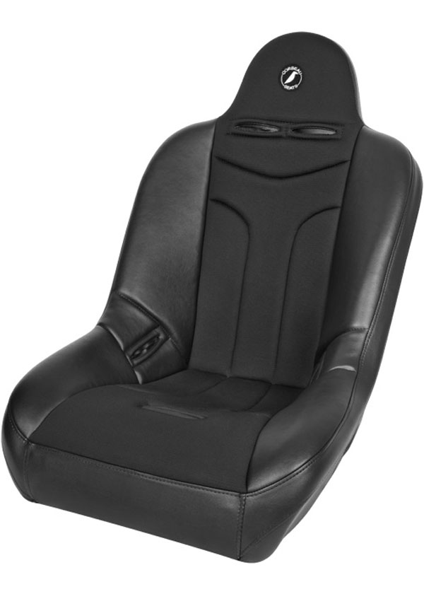 Corbeau 26402B:  Baja JP Suspension Seat in Black Vinyl / Cloth