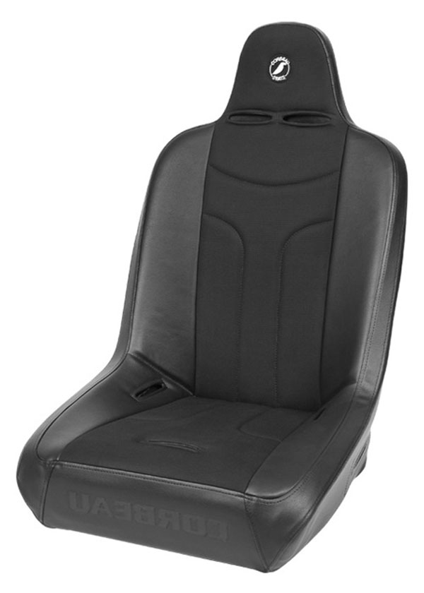 Corbeau 26402BW:  Baja JP Suspension Seat in Black Vinyl / Cloth Wide