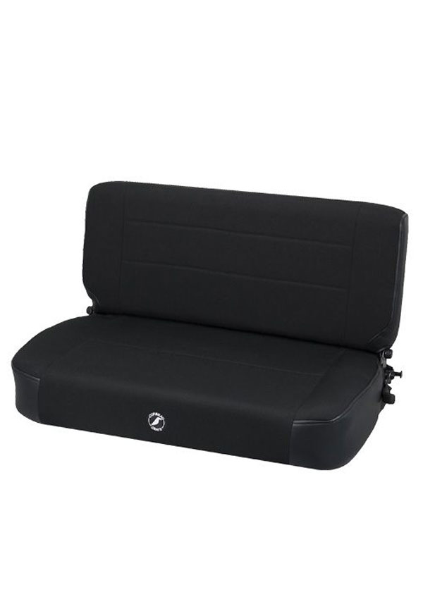 Corbeau 60011:  Safari Fold and Tumble Bench Seat in Black Vinyl / Cloth