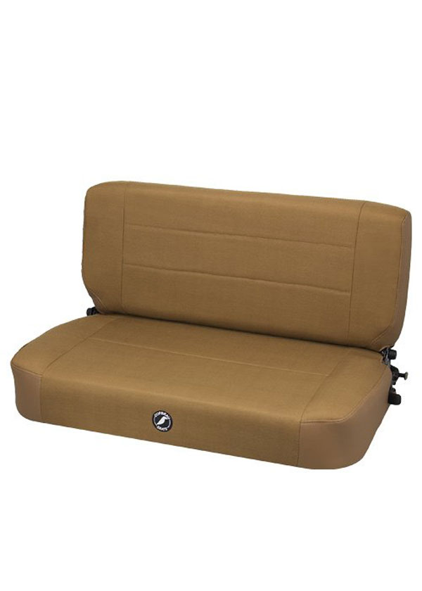 Corbeau 60066:  Safari Fold and Tumble Bench Seat in Tan Vinyl / Cloth