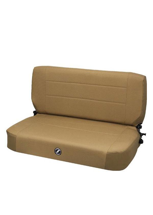 Corbeau 60077 |  Safari Fold and Tumble Bench Seat in Spice Vinyl / Cloth; 1950-2017