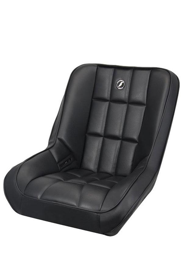Corbeau 62201 |  Baja SS Suspension Seat in Baja Low Back Black Vinyl; 1950-2012