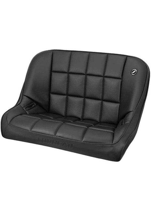 Corbeau 63401 |  Baja Bench 36 inch Seat in Black Vinyl; 1950-2017