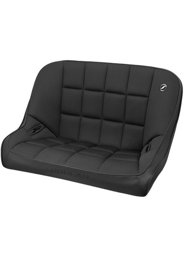 Corbeau 63402B: Corbeau Baja Bench 36 inch Seat in Black Vinyl / Cloth