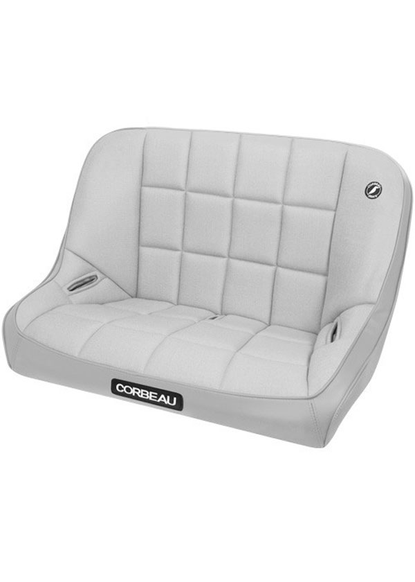 Corbeau 63408:  Baja Bench 36 inch Seat in Grey Vinyl / Cloth