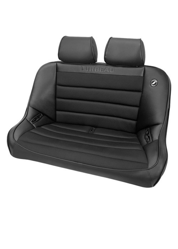 Corbeau 64002B-HR01: Corbeau Baja Bench 40 inch Seat in Black Vinyl / Cloth with Headrests