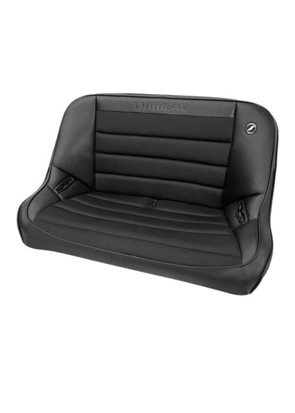 Corbeau 64002B |  Baja Bench 40 inch Seat in Black Vinyl / Cloth; 1950-2017