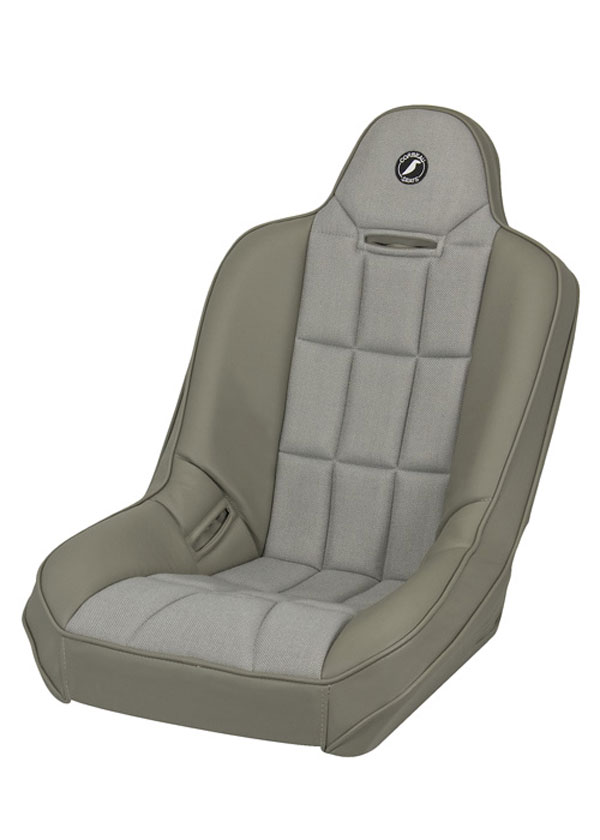 Corbeau 65408:  Baja SS Suspension Seat in Grey Vinyl / Cloth