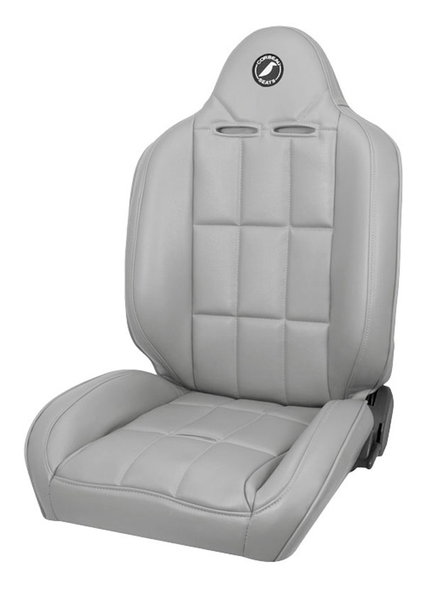 Corbeau 66409: Corbeau Baja RS Reclining Suspension Seat in Grey Vinyl (Sold in Pairs, Price is for 2 Seats)