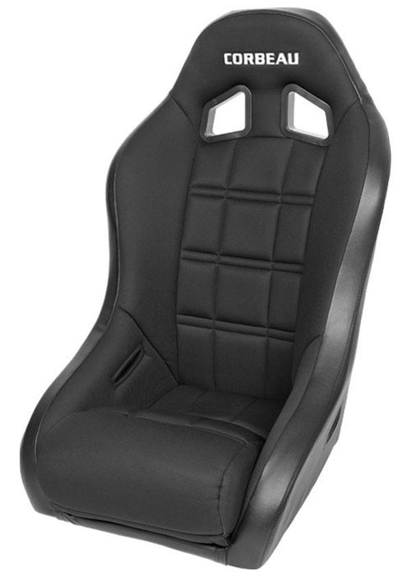 Corbeau 68802B |  Baja XP Suspension Seat in Black Vinyl / Cloth; 1950-2012