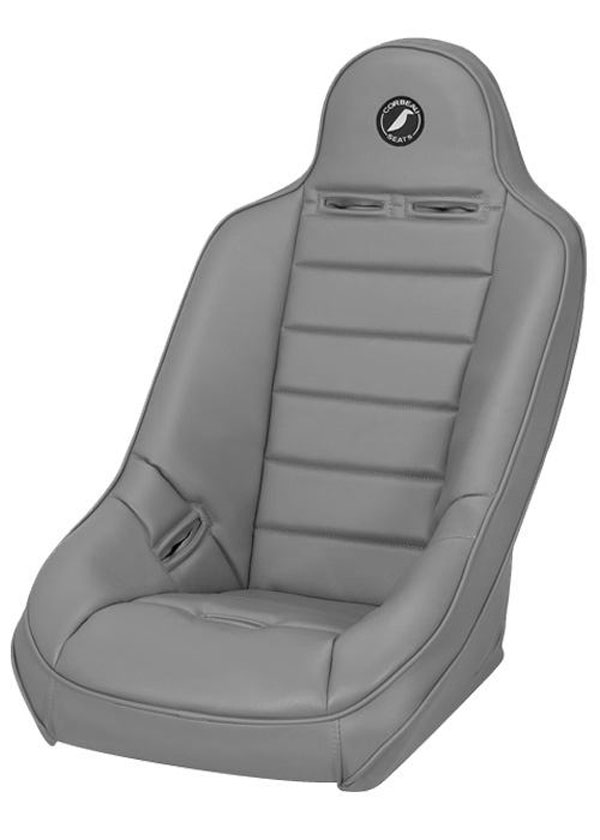 Corbeau (69409W)  Baja Ultra Suspension Seat in Grey Vinyl - Wide