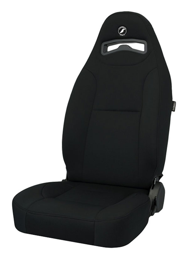 Corbeau 70001 | Moab Reclining Seat in Black Neoprene (Sold in Pairs, Price is for 2 Seats); 1950-2012