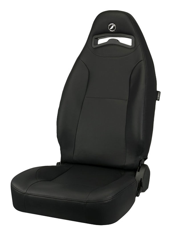 Corbeau 70010 | Moab Reclining Seat in Black Vinyl (Sold in Pairs, Price is for 2 Seats); 1950-2012