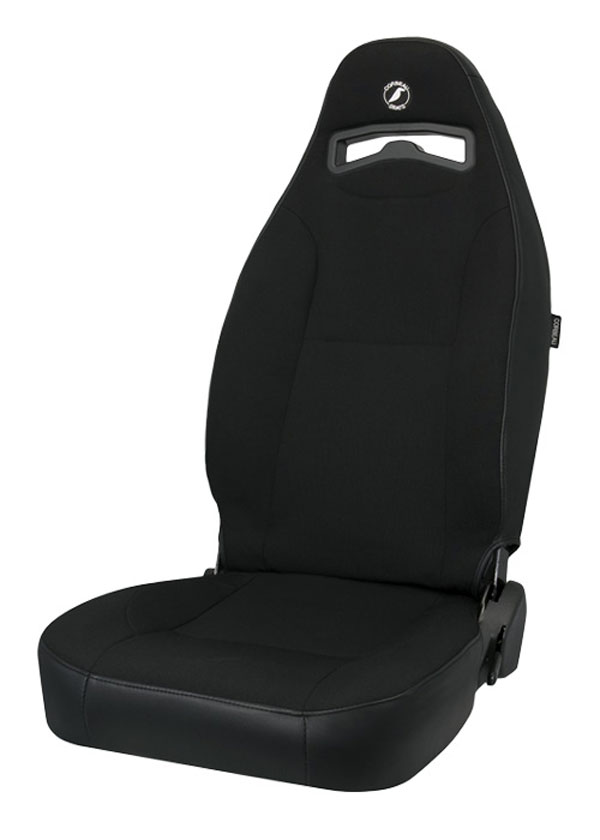 Corbeau 70011 | Moab Reclining Seat in Black Vinyl / Cloth (Sold in Pairs, Price is for 2 Seats); 1950-2012