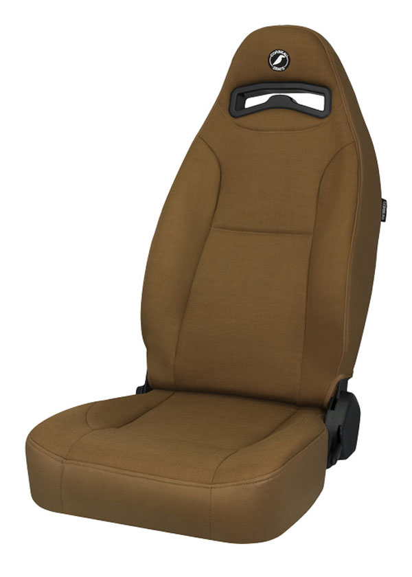 Corbeau 70066:  Moab Reclining Seat in Tan Vinyl / Cloth (Sold in Pairs, Price is for 2 Seats)