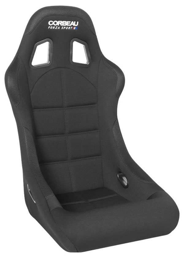 Corbeau FIA29101:  Forza Sport FIA Approved Fixed Back Racing Seat in Black Cloth