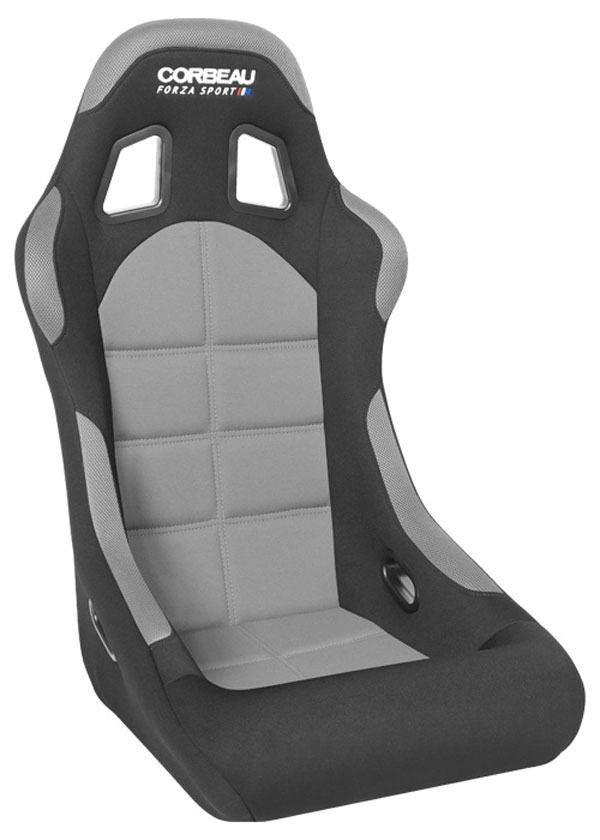 Corbeau (FIA29109)  Forza Sport FIA Approved Fixed Racing Seat in Black/Grey Cloth