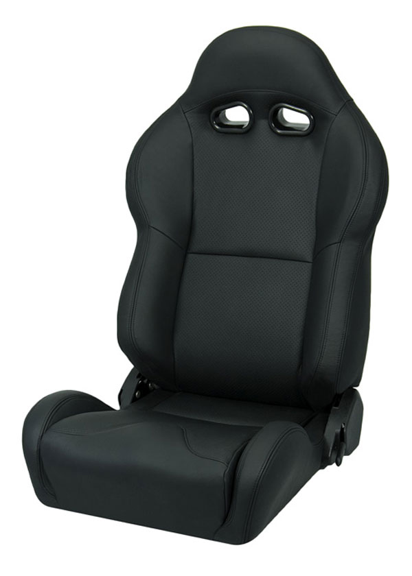 Corbeau L20001:  VX2000 Reclining Seat in Black Leather (Sold in Pairs, Price is for 2 Seats)